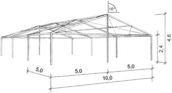 размеры тентового павильона